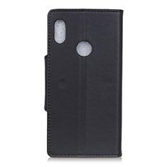 BQ Vsmart joy 1用手帳型 レザーケース スタンド カバー L04 BQ ブラック