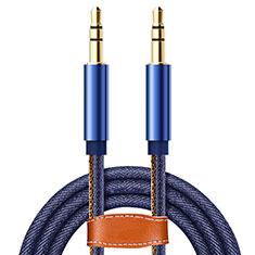 Audioオーディオ用ケーブル 3.5φステレオミニプラグポータブル音楽プレーヤー~ミニコン A05 ネイビー