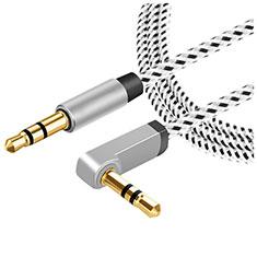 Audioオーディオ用ケーブル 3.5φステレオミニプラグポータブル音楽プレーヤー~ミニコン A08 グレー