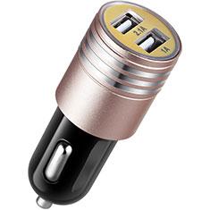 Huawei Matepad T 5G 10.4用車載充電器3.1A USB電源2ポート カーチャージャー 急速充電 U04 ピンク