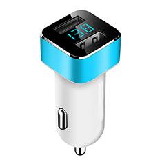 Huawei Matepad T 5G 10.4用車載充電器3.1A USB電源2ポート カーチャージャー 急速充電 ブルー