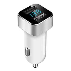 Huawei Matepad T 5G 10.4用車載充電器3.1A USB電源2ポート カーチャージャー 急速充電 ホワイト