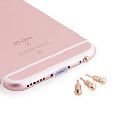 Samsung Galaxy M21s用アンチ ダスト プラグ キャップ ストッパー イヤホンAndroid Apple ユニバーサル D05 ローズゴールド