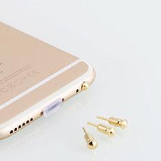 Huawei MatePad 5G 10.4用アンチ ダスト プラグ キャップ ストッパー イヤホンAndroid Apple ユニバーサル D05 ゴールド