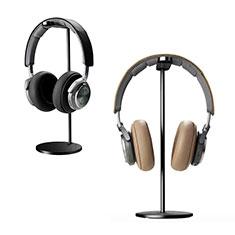 ヘッドセットヘッドホン スタンド ヘッドホンハンガー 完全金属デザイン H01 H01 ブラック