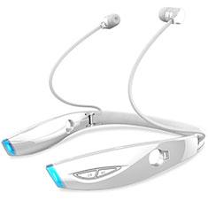Samsung Galaxy Tab A6.10.1 SM-T580 SM-T585用Bluetoothイヤホンワイヤレス ヘッドホン ステレオ H52 ホワイト
