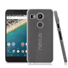 Google Nexus 5X用ハードケース クリスタル クリア透明 グーグル クリア