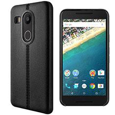 Google Nexus 5X用手帳型 レザーケース スタンド グーグル ブラック