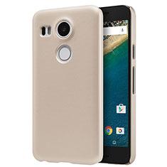 Google Nexus 5X用ハードケース プラスチック 質感もマット P01 グーグル ゴールド