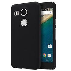 Google Nexus 5X用ハードケース プラスチック 質感もマット P01 グーグル ブラック