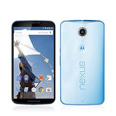 Google Nexus 6用極薄ソフトケース シリコンケース 耐衝撃 全面保護 クリア透明 グーグル ネイビー