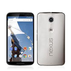 Google Nexus 6用極薄ソフトケース シリコンケース 耐衝撃 全面保護 クリア透明 グーグル グレー