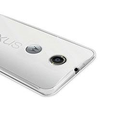 Google Nexus 6用極薄ソフトケース シリコンケース 耐衝撃 全面保護 クリア透明 グーグル クリア