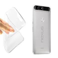 Google Nexus 6P用ソフトケース シリコンケース 耐衝撃 全面保護 クリア透明 グーグル クリア
