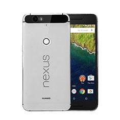 Google Nexus 6P用極薄ソフトケース シリコンケース 耐衝撃 全面保護 クリア透明 グーグル グレー