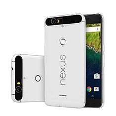 Google Nexus 6P用極薄ソフトケース シリコンケース 耐衝撃 全面保護 クリア透明 グーグル クリア