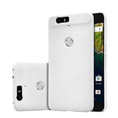 Google Nexus 6P用ハードケース プラスチック メッシュ デザイン グーグル ホワイト