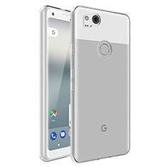 Google Pixel 2用極薄ソフトケース シリコンケース 耐衝撃 全面保護 クリア透明 カバー グーグル クリア