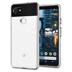 Google Pixel 2 XL用シリコンケース ソフトタッチラバー グーグル ホワイト
