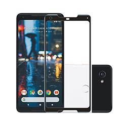 Google Pixel 2 XL用強化ガラス フル液晶保護フィルム F02 グーグル ブラック