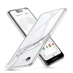 Google Pixel 3 XL用極薄ソフトケース シリコンケース 耐衝撃 全面保護 クリア透明 カバー グーグル クリア