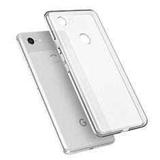 Google Pixel 3 XL用極薄ソフトケース シリコンケース 耐衝撃 全面保護 クリア透明 T02 グーグル クリア