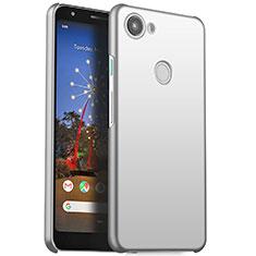 Google Pixel 3a用ハードケース プラスチック 質感もマット M01 グーグル シルバー