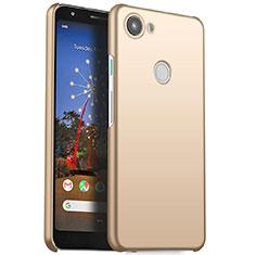 Google Pixel 3a用ハードケース プラスチック 質感もマット M01 グーグル ゴールド