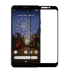 Google Pixel 3a用強化ガラス フル液晶保護フィルム F03 グーグル ブラック
