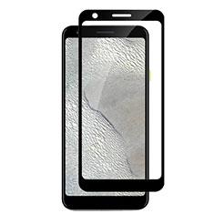 Google Pixel 3a用強化ガラス フル液晶保護フィルム F04 グーグル ブラック