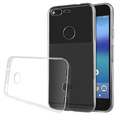 Google Pixel XL用極薄ソフトケース シリコンケース 耐衝撃 全面保護 クリア透明 グーグル クリア