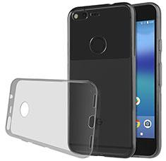 Google Pixel XL用極薄ソフトケース シリコンケース 耐衝撃 全面保護 クリア透明 T02 グーグル グレー