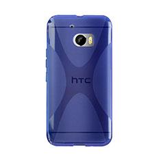 HTC 10 One M10用ソフトケース X ライン クリア透明 HTC ネイビー