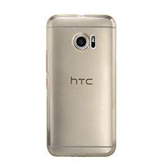 HTC 10 One M10用極薄ソフトケース シリコンケース 耐衝撃 全面保護 クリア透明 HTC ゴールド