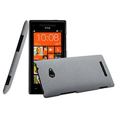 HTC 8X Windows Phone用ハードケース プラスチック 質感もマット HTC グレー