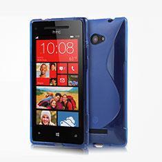 HTC 8X Windows Phone用ソフトケース S ライン クリア透明 HTC ネイビー