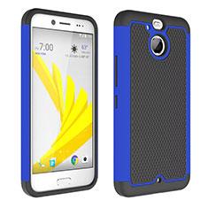HTC Bolt用ハイブリットバンパーケース クリア透明 プラスチック HTC ネイビー