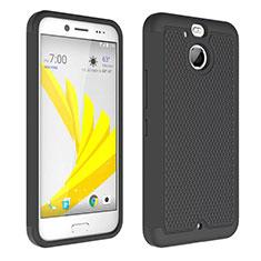 HTC Bolt用ハイブリットバンパーケース クリア透明 プラスチック HTC ブラック