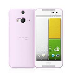 HTC Butterfly 2用極薄ソフトケース シリコンケース 耐衝撃 全面保護 クリア透明 HTC ピンク