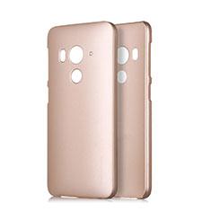HTC Butterfly 3用ハードケース プラスチック 質感もマット HTC ゴールド