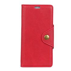 HTC Desire 12 Plus用手帳型 レザーケース スタンド カバー HTC レッド