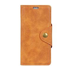 HTC Desire 12 Plus用手帳型 レザーケース スタンド カバー HTC オレンジ