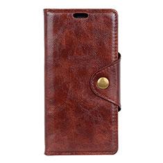 HTC Desire 12 Plus用手帳型 レザーケース スタンド カバー L03 HTC ブラウン
