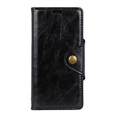 HTC Desire 12 Plus用手帳型 レザーケース スタンド カバー L03 HTC ブラック