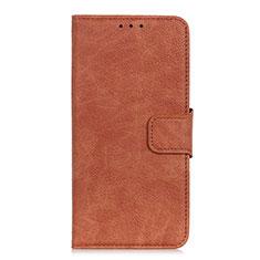 HTC Desire 19 Plus用手帳型 レザーケース スタンド カバー L01 HTC ブラウン