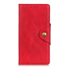HTC Desire 19 Plus用手帳型 レザーケース スタンド カバー L05 HTC レッド