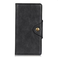 HTC Desire 19 Plus用手帳型 レザーケース スタンド カバー L05 HTC ブラック