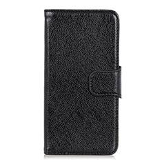 HTC Desire 19 Plus用手帳型 レザーケース スタンド カバー HTC ブラック