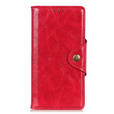 HTC Desire 19 Plus用手帳型 レザーケース スタンド カバー L03 HTC レッド