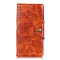 HTC Desire 19 Plus用手帳型 レザーケース スタンド カバー L03 HTC オレンジ